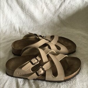 Birkis by Birkenstock women's  Tan sandals size 37